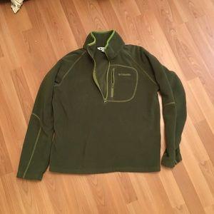 Columbia youth XL olive green fleece